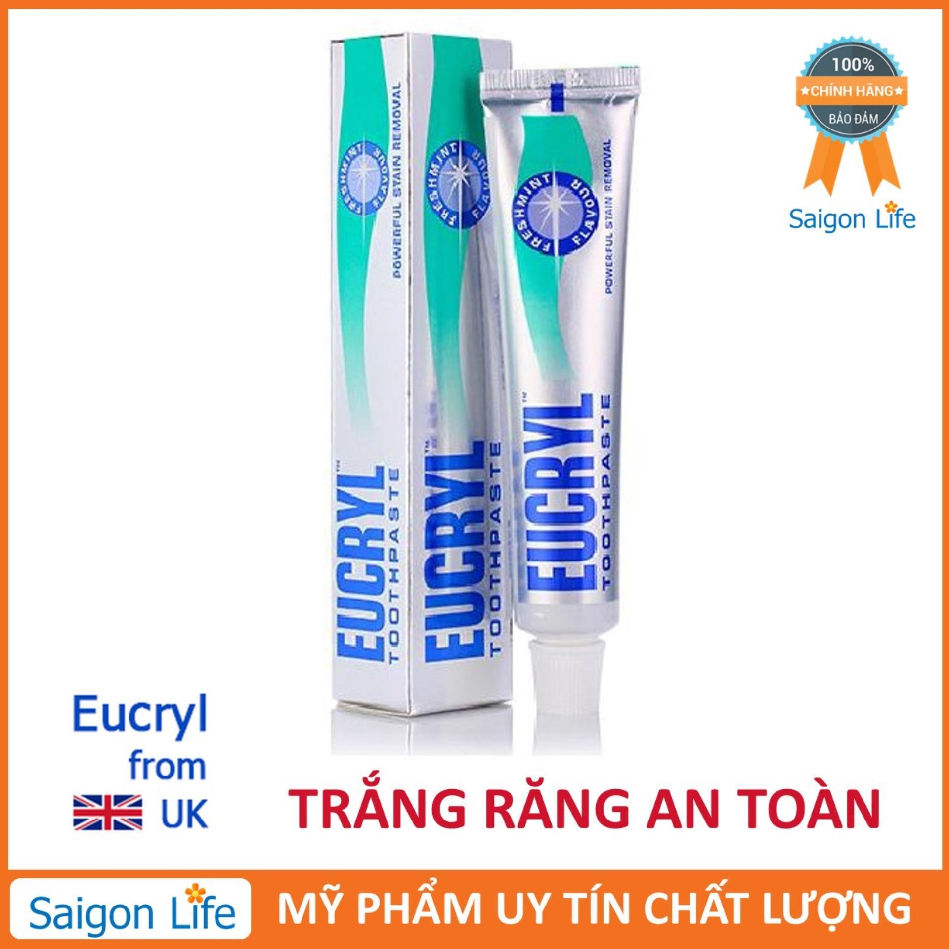 Kem đánh răng tẩy trắng Eucryl 62g chính hãng