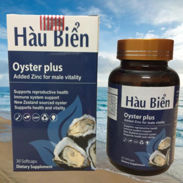 Tăng Cường Sinh Lý -Hàu Biển Oyster Plus- hộp 30 viên , Tăng Ham Muốn, Cường Dương