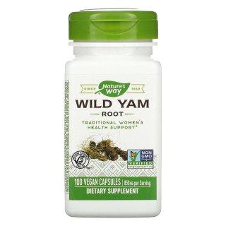 Chiết xuất khoai lang dại, Nature s Way, Wild Yam Root, 850 mg, 100 Vegan Capsules thumbnail