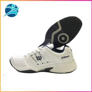 Giày tennis wilson dành cho nam mẫu mới đủ size, êm chân nhẹ nhàng, có nhiều lỗ thoáng khí, màu trắng đen thumbnail