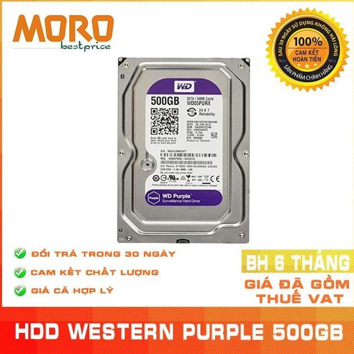 Mã Khuyến Mãi Khi Mua Ổ Cứng Camera WD Purple 500GB - Nhập Khẩu Từ Nhật Bản, Hàn Quốc - Bảo Hành 6 Tháng 1 đổi 1
