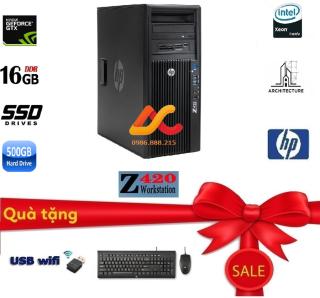HP Z420 WorkStation, máy tính cho đồ họa cao cấp ( Cấu hình Intel Xeon E5 2670 ( 3.3Ghz) Ram ECC 16GB SSD 256GB + HDD 1000Gb Card màn hình QuaDro K2000 Siêu khủng) - Bảo hành 12 tháng thumbnail