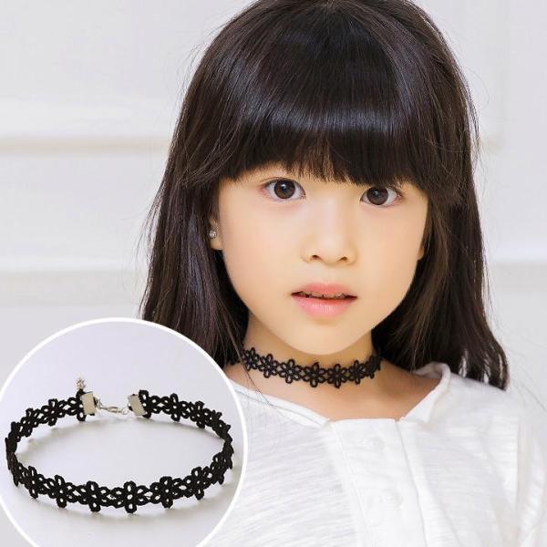 Giá bán Vòng cổ choker cho bé gái nhiều hoa văn đáng yêu phối hạt phụ kiện làm điểm nhấn cá tính BBShine – J055