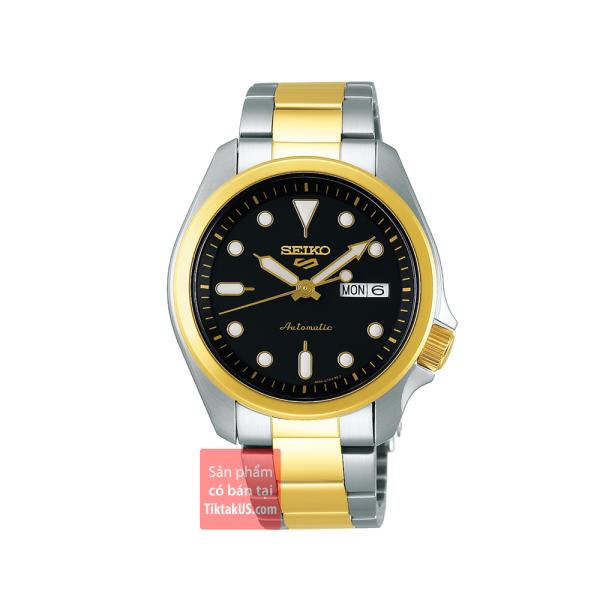 SRPE60K1 - Đồng hồ nam Seiko 5 Sport 2020 dây thép Demi Gold size 39mm chống nước 100m máy cơ Automatic 24 chân kính trữ cót 40 tiếng bảo hành 12 tháng