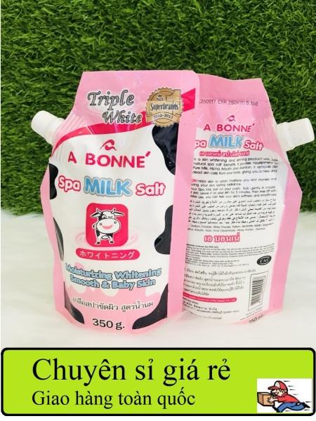 [ COMBO 5 ] Muối Sữa Tắm Trắng Spa A Bonne, Spa Milk Salt 350g, Muối tắm sữa bò