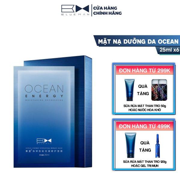 Mặt Nạ Dưỡng Da Ocean BLUEMAN Ngừa Mụn Khít Lỗ Chân Lông 25ml x 6 miếng giá rẻ