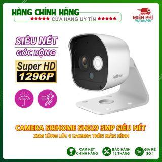Camera SriHome SH029 NEW - 3MP FHD - Kết nối wifi - Cảm biến hồng ngoại thumbnail