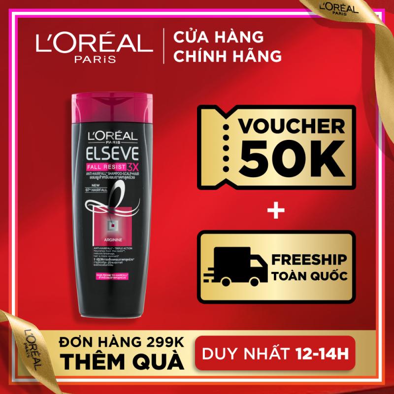 Dầu gội ngăn gãy rụng tóc LOreal Paris Elseve Fall Resist 3X Shampoo 330ml