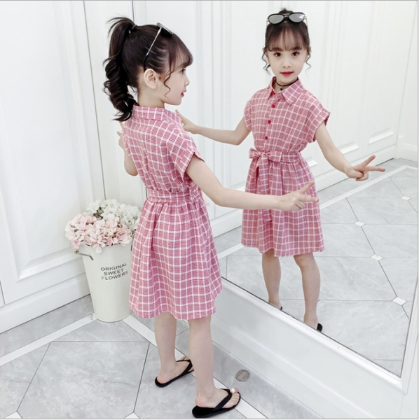 Giá bán Đầm kẻ caro dễ thương cho bé gái từ 3 đến 14 tuổi - DAM26