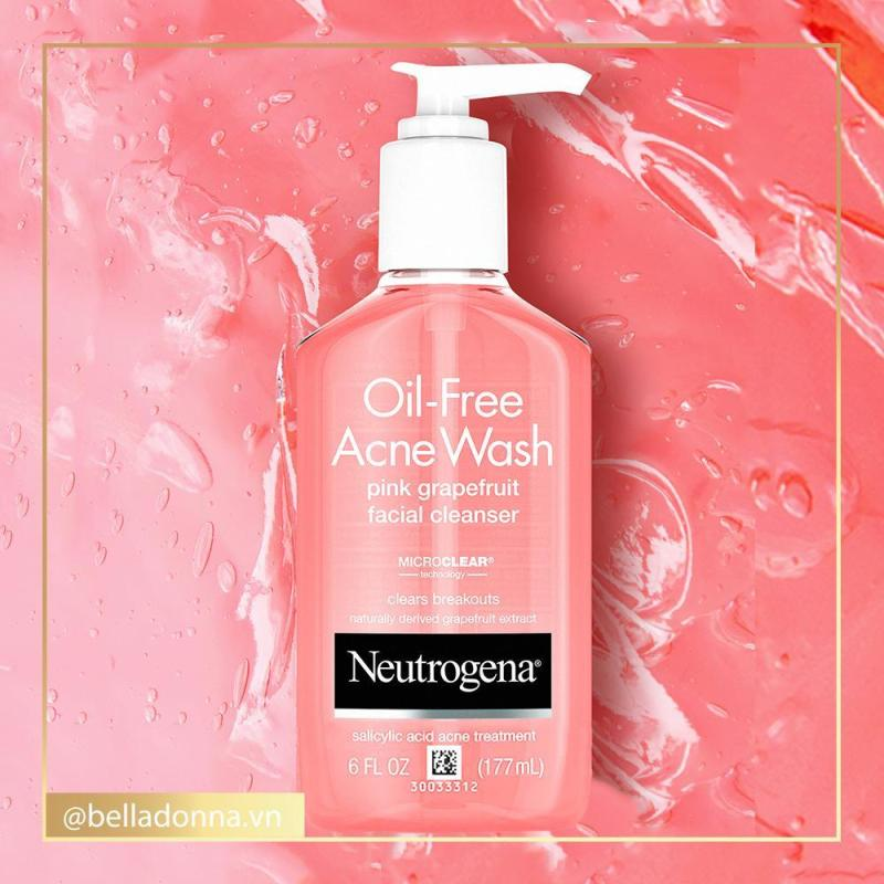Sữa Rửa Mặt Neutrogena Oil-Free Acne Wash Pink Grapefruit Facial Cleanser 177ml - Tạm Biệt Mụn cao cấp