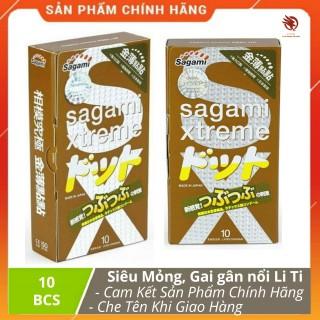 [ XẢ HÀNG ] - Bao cao su Siêu mỏng Sagami Xtreme FeelUp , Gân Gai vòng thắt chính hãng - Hộp 10 bao thumbnail