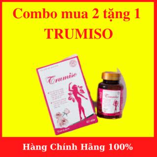 [ 1 LIỆU TRÌNH ] COMBO Mua 2 hộp tặng 1 HỘP TRUMISO (3 hộp ) - Viên Uống TRUMISO TĂNG VÒNG 1 VIÊN UỐNG NỘI TIẾT TỐ NỮ (HỘP 60 VIÊN)- AN001 thumbnail