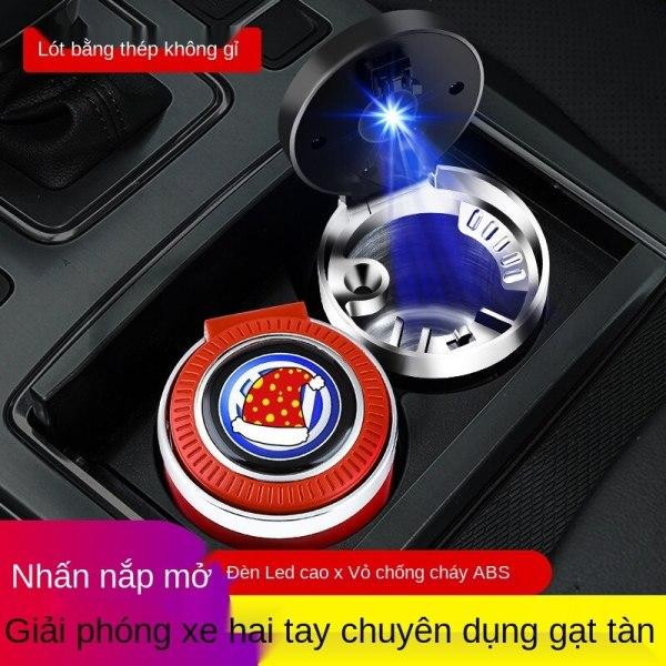 Gạt tàn xe hơi làm sạch nội thất xe hơi sáng tạo gạt tàn đèn LED ánh sáng bầu không khí