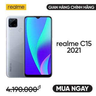 Realme C15 4GB/64GB bản mới 2021 - Trả góp 0% - Gian hàng REALME chính hãng - Miễn phí vận chuyển