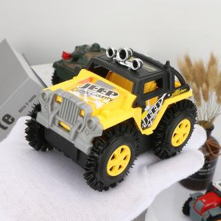 Xe Jeep đồ chơi ô tô cho bé chạy pin AA chi tiết sắc sảo, nhựa ABS an toàn cho người sử dụng (màu vàng - chưa kèm pin) thumbnail