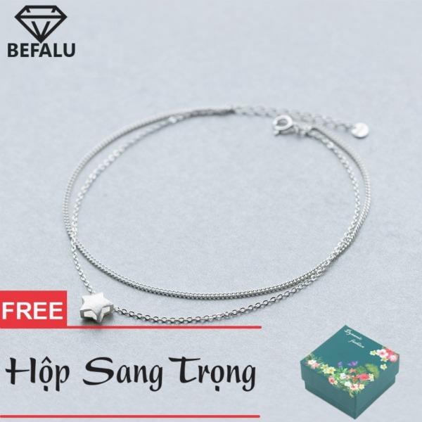 Lắc Chân Nữ Bạc S925 Phong Cách Hàn Quốc Ngôi Sao LC03 Lắc Chân FREESIZE