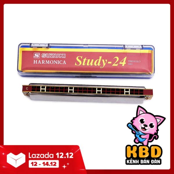 [TẶNG VẢI LAU] Kèn Harmonica Tremolo Suzuki Study 24 key C (Bạc) - KBD Shop