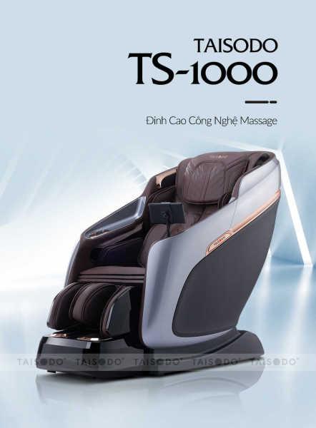 Ghế massage Taisodo Ts 1000 - Trí tuệ nhân tạo, Điều khiển giọng nói, Sạc nhanh không dây, Loa âm thanh Vòm Bluetooth