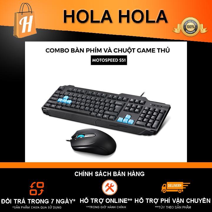 Deal Ưu Đãi Combo Chuột Và Bàn Phím Game Thủ Motospeed S51 DPI 1000