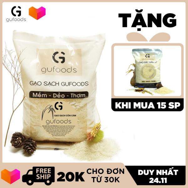 Gạo sạch còn cám GUfoods (ngọt - mềm - thơm) (1kg)