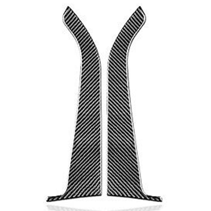 for Ford Mustang 2015-2019 Carbon Fiber Front Car Door Panel Cover Sticker Trim