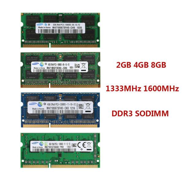 Ram laptop DDR3 2GB Bus 1600 PC3 10600 Samsung Hynix Micron Elpida Kingston...