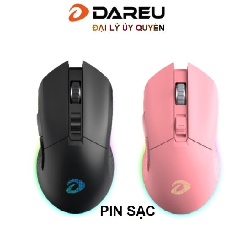 Bảng giá Chuột không dây Gaming Dareu EM901 Pink / Black - Wireless Sử dụng pin sạc Phong Vũ