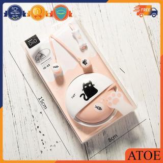 Tai nghe nhạc Eranc Hàn Quốc có micro gọi điện và hộp quấn chống rối hình mèo dễ thương thumbnail