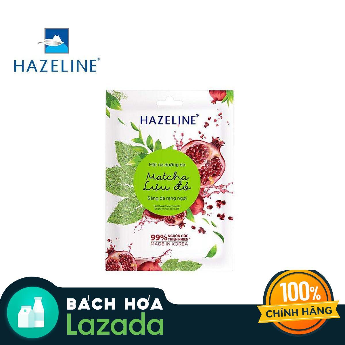 Mặt nạ dưỡng trắng Hazeline Matcha Lựu Đỏ