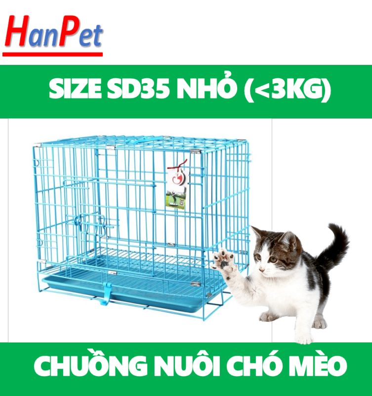 HCM -Chuồng nuôi chó mèo ( SD CÓ 5 SIZE SD35  SD45 / SD50 / SD60 / SD75)- lồng nuôi chó mèo - Chuồng chó - lồng chó gấp gọn sơn tĩnh điện (Màu ngẫu nhiên) chuồng mèo / chuồng nuôi mèo / lồng mèo / lồng nuôi mèo / lồng nuôi nhốt thú cưng