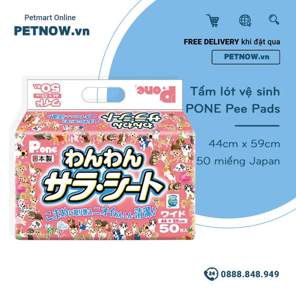 Tấm lót vệ sinh PONE Pee Pads 44cm x 59cm - 50 miếng Japan PETNOW.VN