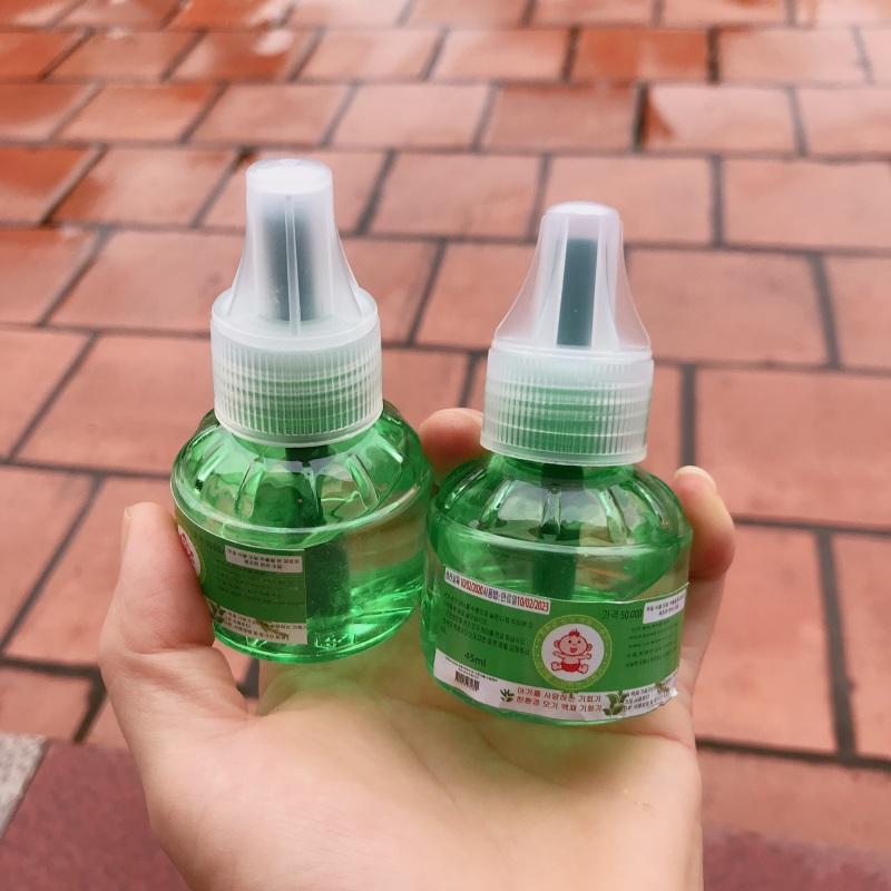 2 lọ dầu đuổi muỗi Hàn Quốc chính hãng.