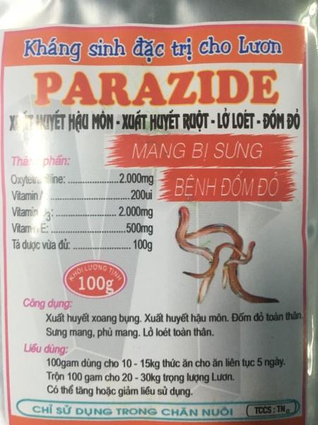 Parazide kháng sinh đặc tri cho con lươn