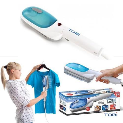 Bàn ủi hơi nước cầm tay Tobi -TV ( Trắng Xanh ) + Tặng kèm dụng cú lấy ráy tai có đèn