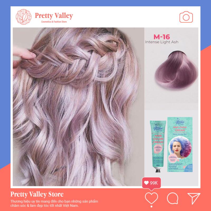 Kem nhuộm tóc cao cấp màu khói sáng Molokai 60ml [ TẶNG KÈM GĂNG TAY + CHAI OXY TRỢ DƯỠNG TÓC ] nhập khẩu