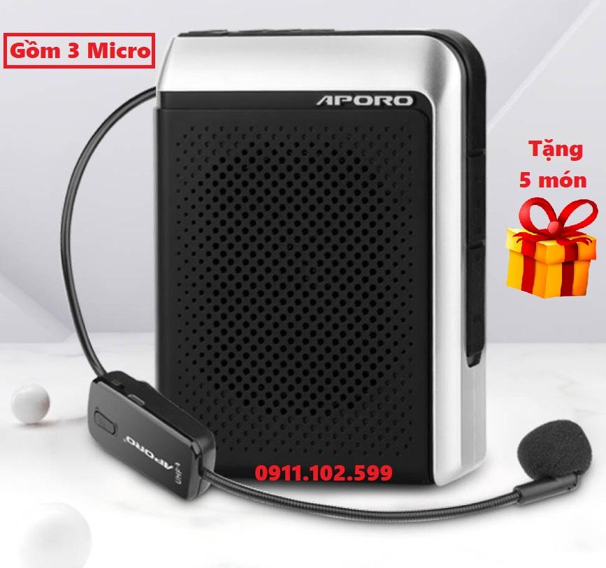 Loa trợ giảng Aporo T18 UHF công suất 30W Bluetooth 5.0 không dây