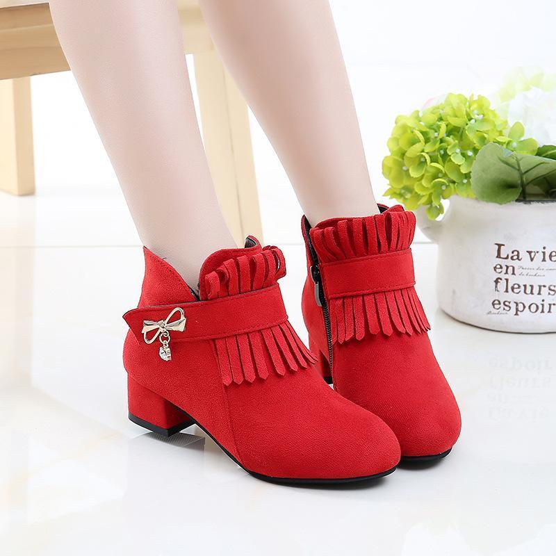 Giá bán Giày bốt cho bé gái phong cách hàn quốc EB001
