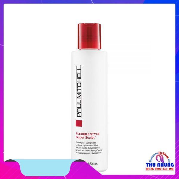 [HCM]Gel tạo nếp tóc uốn (mùi táo xanh) Paul Mitchell Flexible Style Super Sculpt gel 250ml