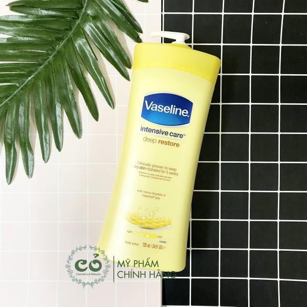 Sữa dưỡng thể Vaseline 725ml thành phần của sản phẩm hoàn toàn lành tính và an toàn cho người sử dụng chất lượng và công dụng của sản phẩm đảm bảo như mô tả nhập khẩu