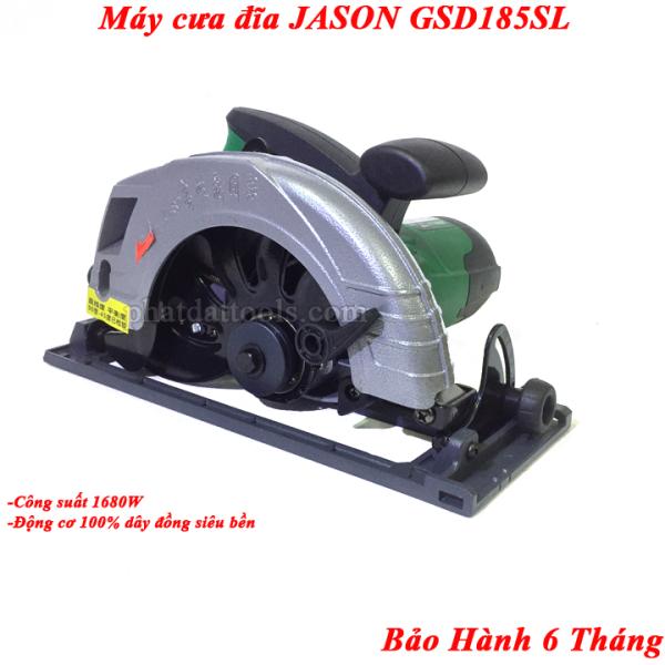 Máy Cưa Cắt Xẻ Gỗ JASON GSD185-Tặng Kèm Lưỡi Cắt 185mm-Công Suất Lớn 1680W