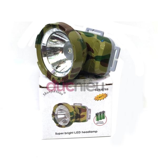 [ Hàng tốt ] Đèn pin đội đầu sáng mạnh dùng pin AA  Đức Hiếu Shop