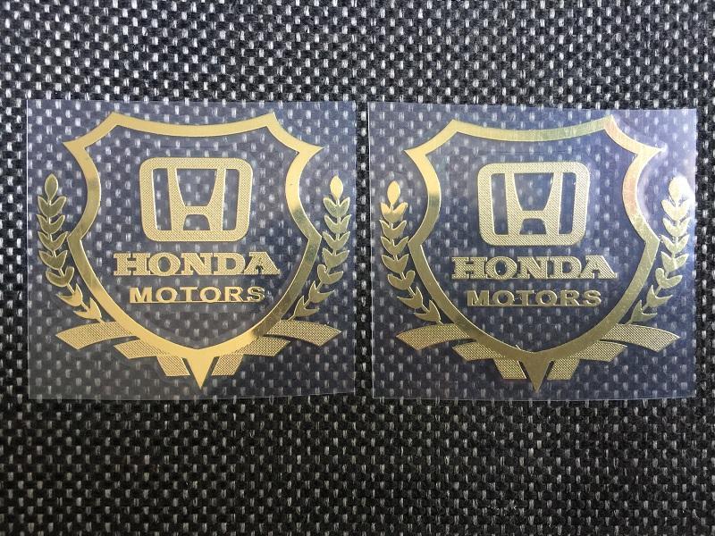 Bộ 2 logo decal nổi các hãng xe ô tô (Honda)