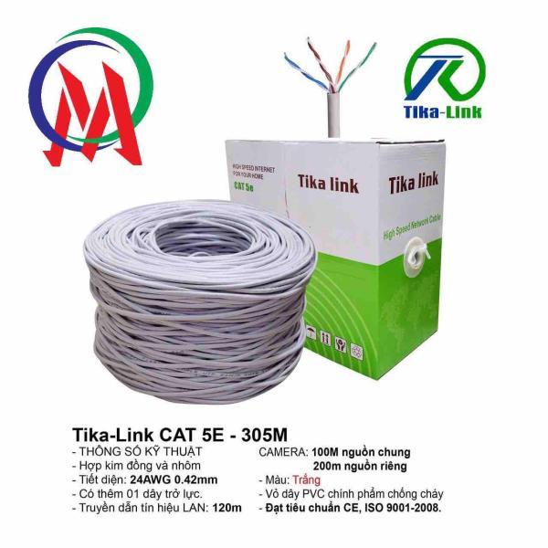 Bảng giá Thùng dây mạng cat5 Tika Link full 305m Phong Vũ