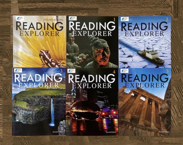 Reading Explorer Colection 1,2,3,4,5, Foundations Student Book ( sách màu)