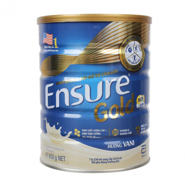 Sữa bột Ensure Gold hương Vani 850g