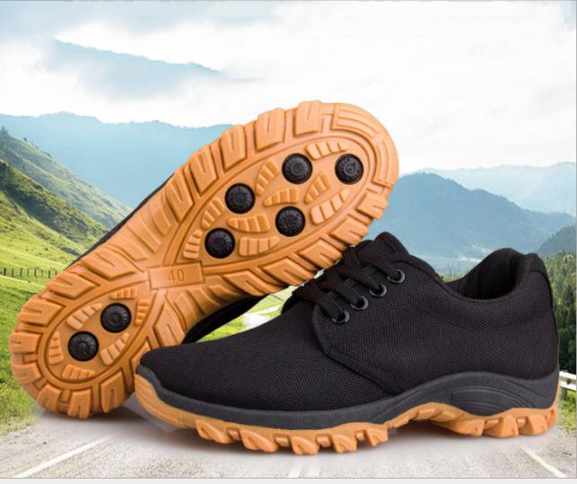 Giày nam đen cổ thấp phong cách bụi phượt giá rẻ