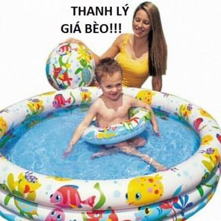 Bể Bơi Tròn Tặng Kèm Bóng Và Phao Bơi Cho Bé thumbnail