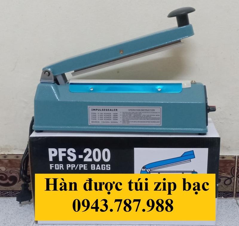 MÁY HÀN MIỆNG TÚI PFS-200 MM SẮT| MÁY ÉP MIỆNG TÚI 20 CM SẮT| Máy hàn miệng túi 20cm sắt| máy cắt ép màng co 20cm sắt