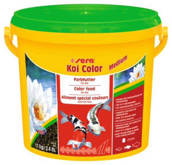 Thức ăn lên màu cho cá Koi có size trung bình xuất xứ từ Sera - Đức, thùng 1,1kg