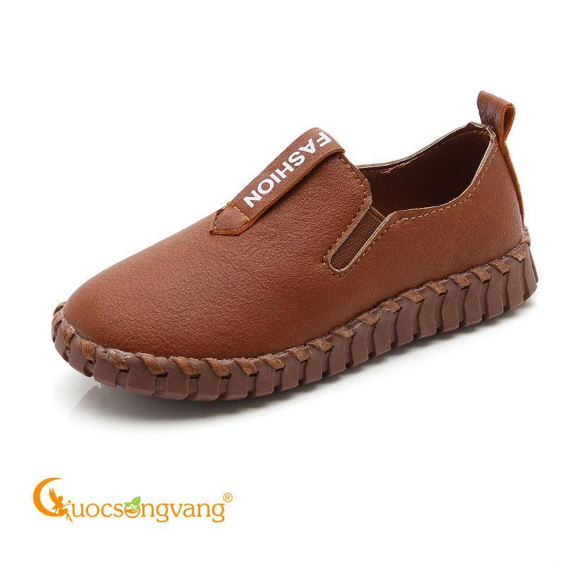 Giày bé trai giả da giày lười bé trai GLG108